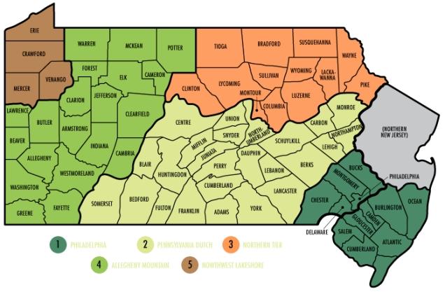 PA regions