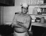 Doc Pierce in the original kitchen. Photo courtesy of Pierce's Pitt