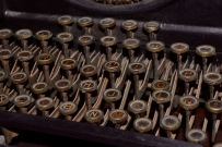 Another shot of Batista's typewriter
