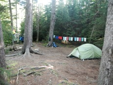 Camp on the North Fork of Red Creek