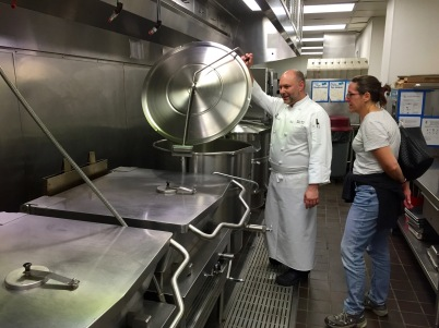 Commercial kitchens kind of do a lot of volume