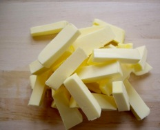 Butter, room temp and chopped into slices