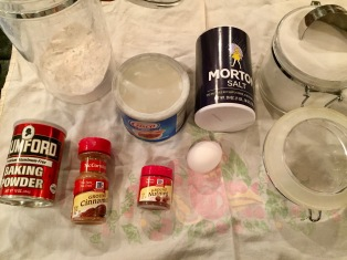 Ingredients for the dough