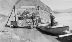 Fish wheels are used to harvest fish for dog food