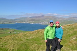 Dingle in the distance, in my St Patricks Day jacket