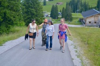 In the hills above Lofer with Eva, Christiane, and Isabelle