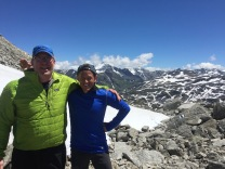 With Reto in Greina Pass, 2355m