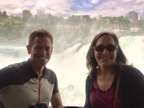Reto and Souzz at Rheinfall, near Zurich
