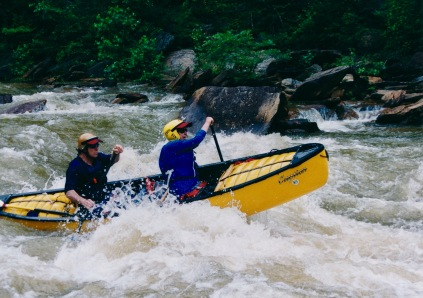 On the Ocoee, tandem with Souzz