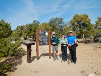At the trailhead of the Boulder Mail Trail, with Souzz's cousin Brian