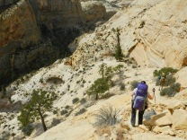 Descending into Death Hollow, Escalante