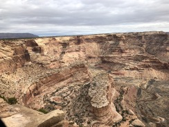 Looking down canyon