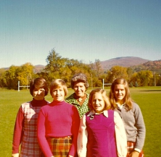"A family visit to the ""purple valley,"" as Williamstown is known. That's Souzz 2nd from right, probably after eating some jelly."