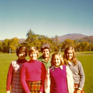 """A family visit to the """"purple valley,"""" as Williamstown is known. That's Souzz 2nd from right, probably after eating some jelly."""