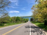 Driving towards Canandaigua Lake (literally)
