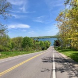 Driving towards Canandaigua Lake (literally)