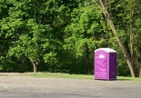 Even the port-a-potty is color-coordinated