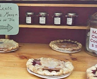 Honor system pie sales. From wjbq.com.
