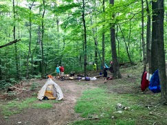 Looking down into camp, Racer Camp Hollow
