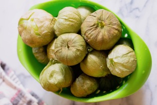 Tomatillos in their husks