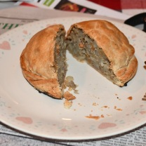 A pastie (pronounced pass-tee), which is basically a pot pie without the pot