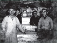 Paul VanLandschoot, Skippy Ghroel, Philip and Joe VanLandschoot in the 1950s. Photo courtesy of VanLandschoot and Sons