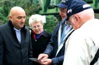 Claudio tells of one of the landmarks while my folks look on