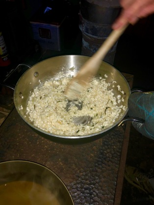 Coating the arborio rice
