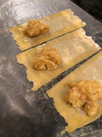 Assembling the tortelli