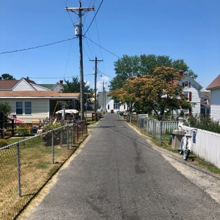 Looking down the main street