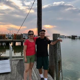 Lou and Kay enjoy the sunset