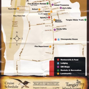 A walking (or cart-riding) map of the town