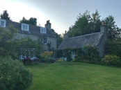 Our lovely cottage, to the right