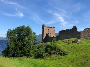 The main tower at Urquhart Castle
