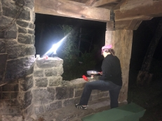 Cooking on the nice stonework